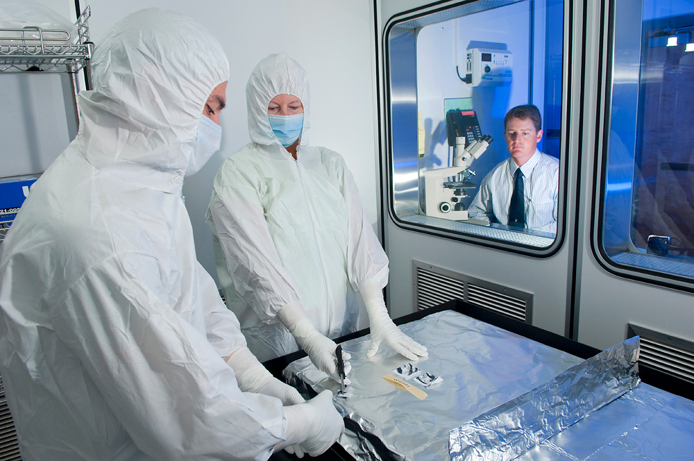 Technicians in a research lab