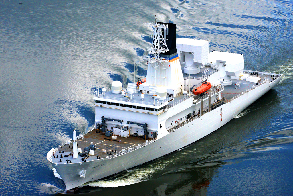 AFTAC research vessel at sea
