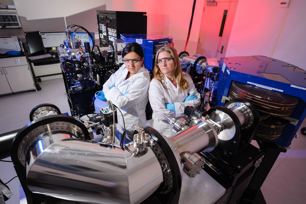 Technicians posing in a lab
