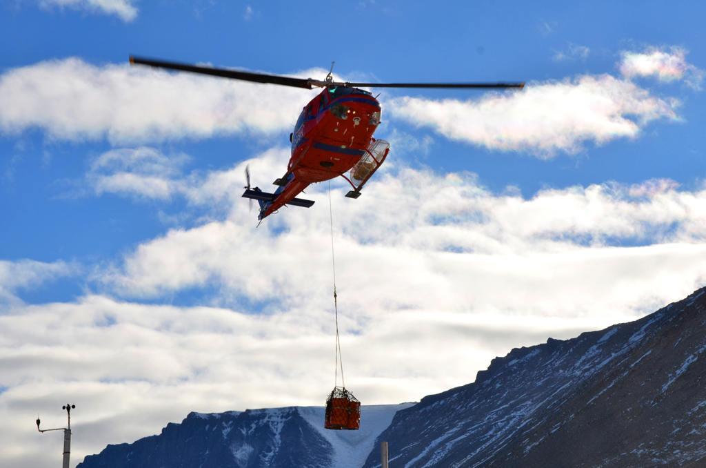 AFTAC helicopter in the arctic